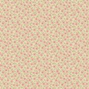 Braveheart by Makower UK - 6640 - Ditsy Floral Vine, Pink on Beige  - 9178_RE - Cotton Fabric